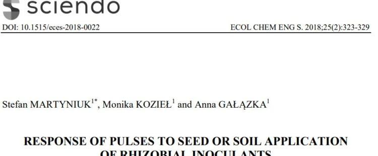 Nowa publikacja w Ecological Chemistry and Engineering S.