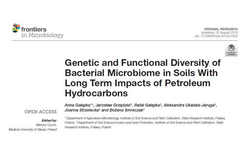 Nowa publikacja w Frontiers in Microbiology