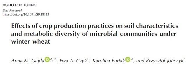 Nowa publikacja w Soil Research