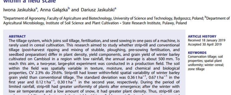 Nowa Publikacja w Acta Agriculturae Scandinavica