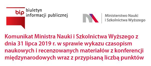 Oficjalna lista czasopism naukowych wraz z punktami (MNiSW)