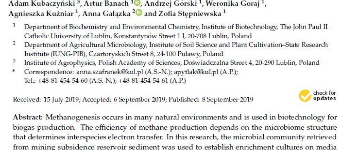 Nowa publikacja w Molecular Sciences