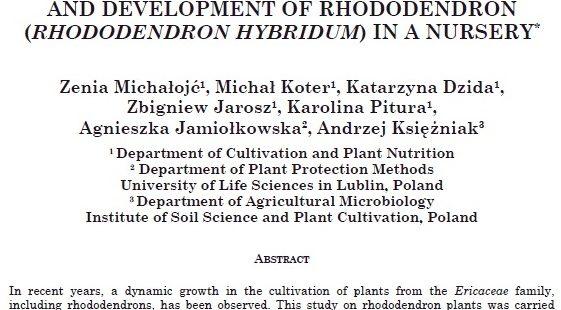 Nowa publikacja w Journal of Elementology