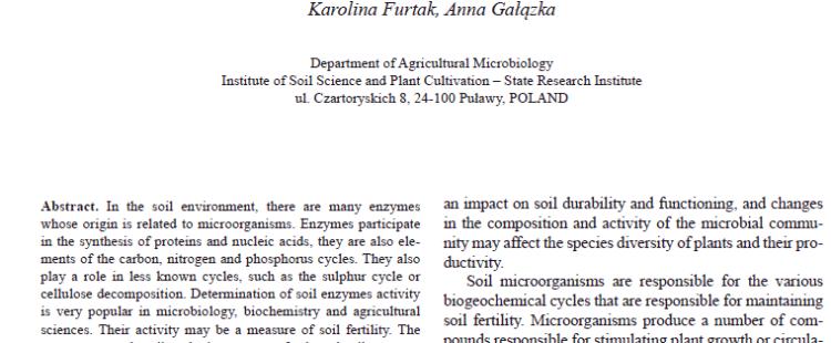 Nowa publikacja w Polish Journal of Agronomy
