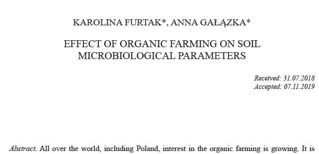 Nowa publikacja w Polish Journal of Soil Science