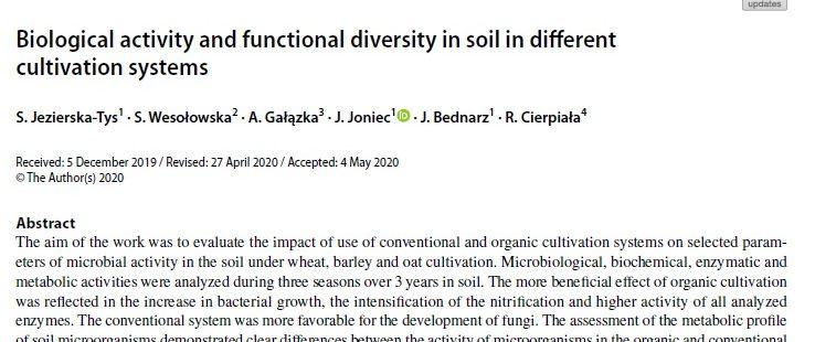 Nowa publikacja w International Journal of Environmental Science and Technology
