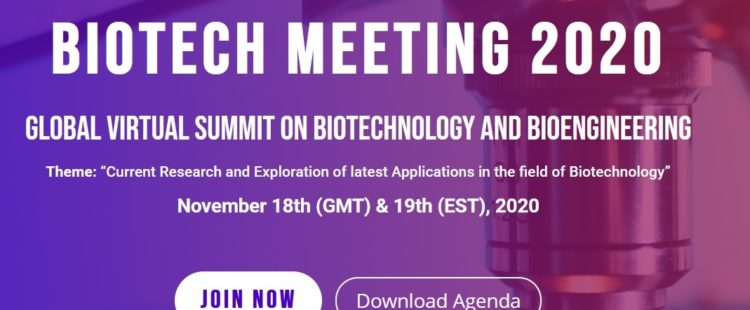 Konferencja Global Virtual Summit on Biotechnology and Bioengineering